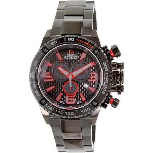 Swiss Precimax Men's Forge Pro SP13240 Black Stainless-Steel Swiss Chronograph Watch