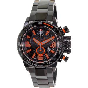 Swiss Precimax Men's Forge Pro SP13241 Black Stainless-Steel Swiss Chronograph Watch
