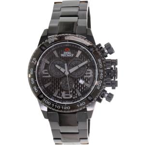 Swiss Precimax Men's Forge Pro SP13244 Black Stainless-Steel Swiss Chronograph Watch