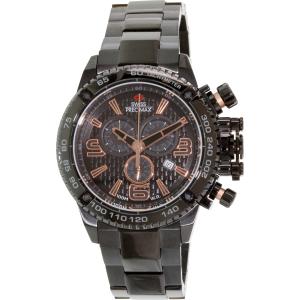 Swiss Precimax Men's Forge Pro SP13245 Black Stainless-Steel Swiss Chronograph Watch