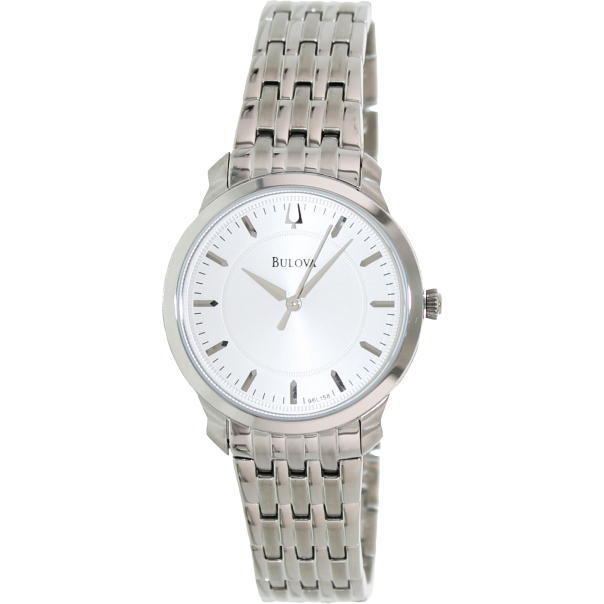 bulova s thin 96l158 silver stainless steel analog