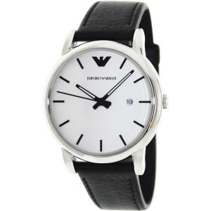 Emporio Armani Men's Classic AR1694 White Leather Quartz Watch
