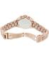 Michael Kors Women's Bradshaw MK5799 Rose-Gold Stainless-Steel Analog Quartz Watch - Back Image Swatch