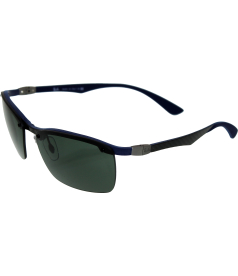 Ray-Ban Men's Gradient Carbon Fibre RB8312-124/71-60 Blue Semi-Rimless Sunglasses