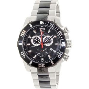 Swiss Precimax Men's Crew Pro SP13259 Silver Stainless-Steel Swiss Chronograph Watch