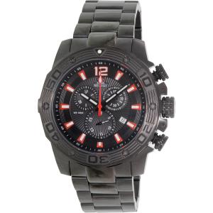 Swiss Precimax Men's Legion Pro SP13264 Black Stainless-Steel Swiss Chronograph Watch