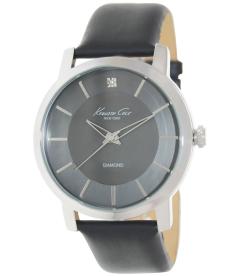Kenneth Cole Men's KC1986 Black Leather Quartz Watch