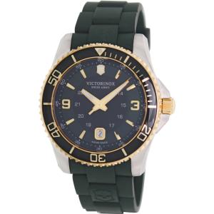 Victorinox Swiss Army Men's Maverick Gs 241606 Green Rubber Swiss Quartz Watch