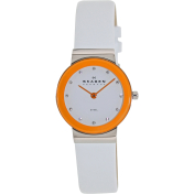 Skagen Women's Brights SKW2015 White Leather Analog Quartz Watch