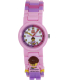Lego Girl's Time Teacher 9005039 Pink Plastic Quartz Watch - Main Image Swatch