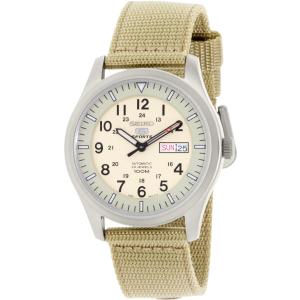Seiko Men's 5 Automatic SNZG07K Tan Nylon Automatic Watch