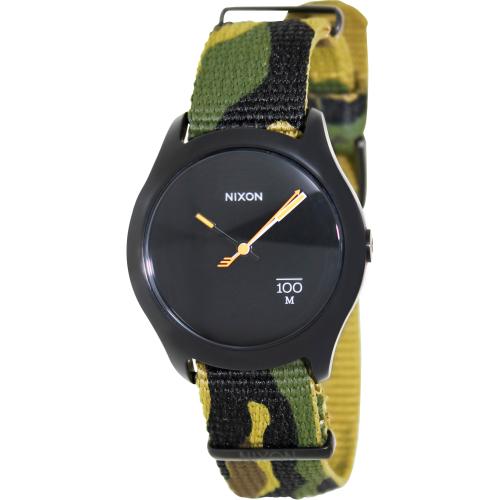 Nixon Men's Quad A3441253 Green Nylon Quartz Watch