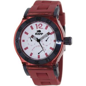 Rapp Men's Pink Naples RP2004 Red Polyurethane Quartz Watch