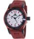 Rapp Men's Pink Naples RP2004 Red Polyurethane Quartz Watch - Main Image Swatch