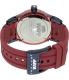 Rapp Men's Pink Naples RP2004 Red Polyurethane Quartz Watch - Back Image Swatch