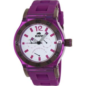 Rapp Men's Pink Naples RP2007 Purple Polyurethane Quartz Watch