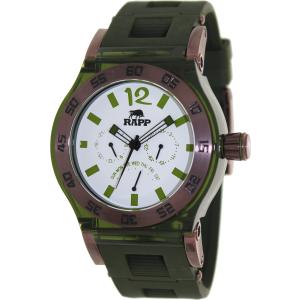 Rapp Men's Pink Naples RP2009 Green Polyurethane Quartz Watch