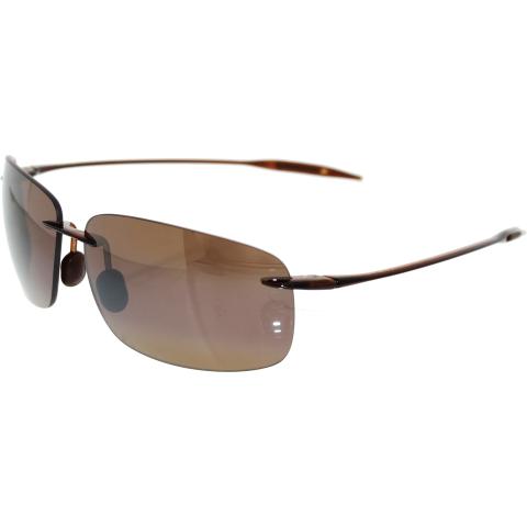 Maui Jim Men's Polarized Breakwall H422-26 Brown Rectangle Sunglasses