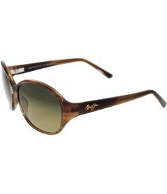 Maui Jim Women's Polarized Ginger HS221-01B Brown Square Sunglasses