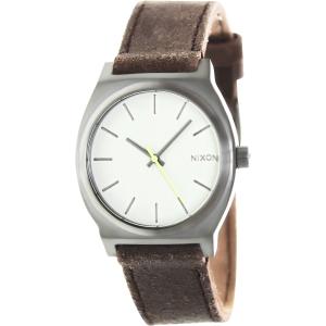 Nixon Men's Time Teller A0451388 Grey Leather Quartz Watch