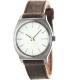 Nixon Men's Time Teller A0451388 Grey Leather Quartz Watch - Main Image Swatch