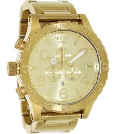 Nixon Men's 51-30 Chrono A083502 Gold Stainless-Steel Quartz Watch