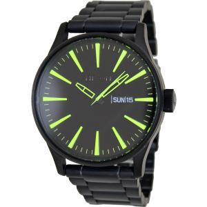 Nixon Men's Sentry Ss A3561256 Black Stainless-Steel Quartz Watch