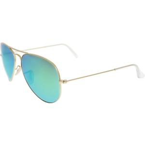 Ray-Ban Men's Mirrored Aviator RB3025-112/19-58 Gold Aviator Sunglasses