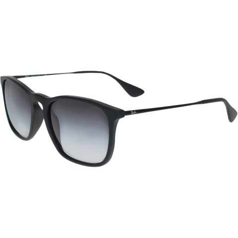 Ray-Ban Men's Mirrored Chris RB4187-622/8G-54 Black Wayfarer Sunglasses