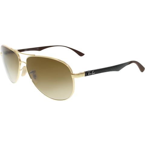 Ray-Ban Men's Aviator RB8313-001/51-61 Gold Sunglasses