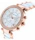 Michael Kors Women's Parker MK5774 White Ceramic Analog Quartz Watch - Side Image Swatch