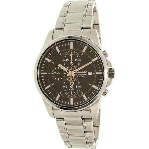 Seiko Men's SNAF05 Silver Stainless-Steel Quartz Watch