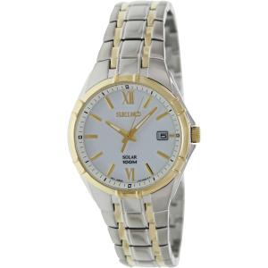 Seiko Men's Solar SNE216 White Stainless-Steel Quartz Watch