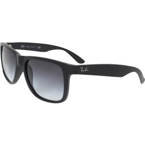 Ray-Ban Men's Justin RB4165-601/8G-55 Black Wayfarer Sunglasses