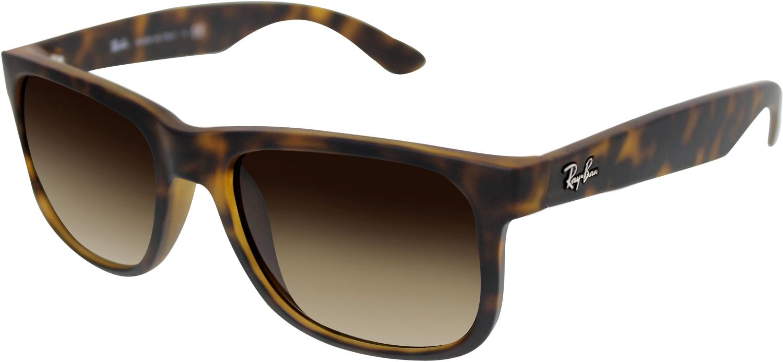 Ray-Ban Men's Gradient Justin Classic RB4165-710/13- 51 Brown Wayfarer Sunglasses