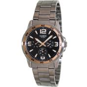 Casio Men's Classic MTP1299D-1AV Black Stainless-Steel Quartz Watch