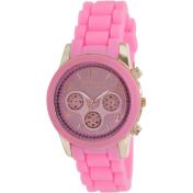 Geneva Platinum Women's 62914.PINK.PINK Pink Silicone Analog Quartz Watch