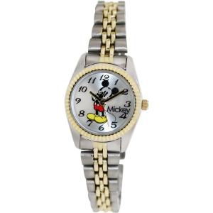 Disney Women's MCK618 Silver Stainless-Steel Analog Quartz Watch