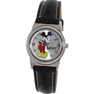 Disney Women's MCK621 Silver Polyurethane Quartz Watch