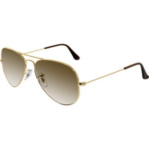 Ray-Ban Men's Gradient Aviator RB3025-001/51-55 Gold Aviator Sunglasses