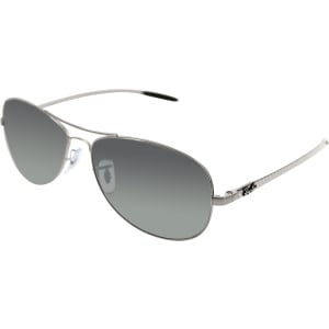 Ray-Ban Men's  RB8301-004/N8-59 Silver Aviator Sunglasses