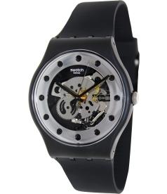 Swatch Men's Originals SUOZ147 Silver Silicone Swiss Quartz Watch