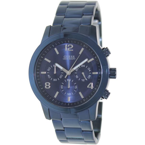 Guess Men's U0123G3 Blue Stainless-Steel Quartz Watch