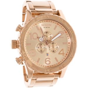 Nixon Men's 51-30 Chrono A083897 Rose-Gold Stainless-Steel Quartz Watch