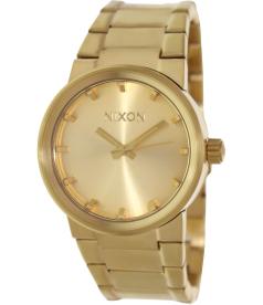 Nixon Men's Cannon A160502 Gold Stainless-Steel Quartz Watch