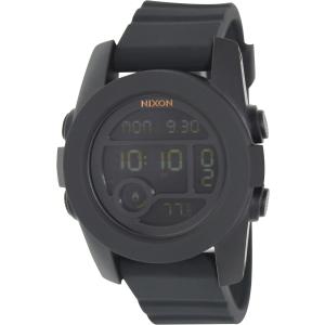 Nixon Men's Unit 40 A490001 Black Rubber Quartz Watch