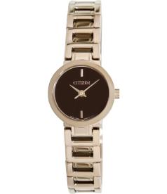 Citizen Women's Classic Quartz EX0333-58W Brown Stainless-Steel Quartz Watch