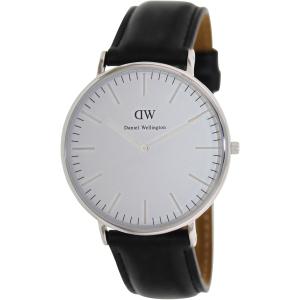Daniel Wellington Men's Classic Sheffield 0206DW Black/White Leather Quartz Watch
