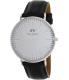 Daniel Wellington Men's Classic Sheffield 0206DW Black/White Leather Quartz Watch - Main Image Swatch