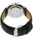 Daniel Wellington Men's Classic Sheffield 0206DW Black/White Leather Quartz Watch - Back Image Swatch